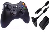 Controle X Box 360 Sem Fio Bateria Recarregável - For -