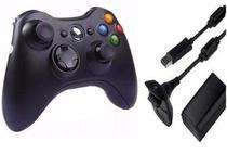 Controle X Box 360 Sem Fio e bateria Recarregável - Importado / M.A -