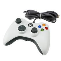 Controle Xbox 360 com fio -Vibração Duoble Para Xbox 360 PC, Branco - M.A