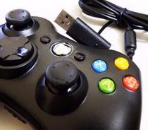 Controle Xbox 360 Slim com Fio USB Feir Fr-305 Preto - E.nice fashion shop