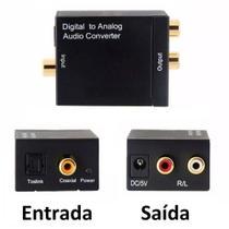 Conversor Audio Optico E Coaxial Digital Para Rca Analogico - Knup