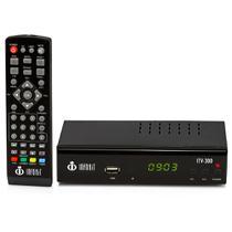 Conversor de TV Digital com Visor LED Gravador e Filtro 4G - ITV-300 - Infokit