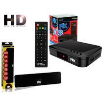 Conversor de Tv Digital Hdtv Filtro 4g HDMI Pix Chipsce SC-1001 + Antena Digital HDTV Slim - Chip sce