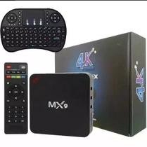 Conversor Smart TV MX9 4K Ultra HD Wi-Fi Android HDMI e mini teclado touchpad mk