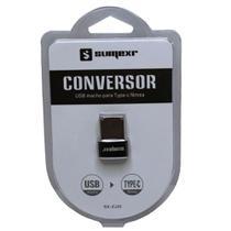 Conversor USB Macho Para Type-C Fêmea - Sumexr -