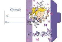 Convite Aniversário 10un (10x6,5cm) CT-037 Litoarte -