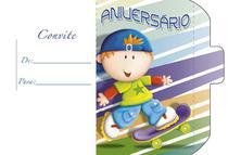 Convite Aniversário 10un (10x6,5cm) CT-045 Litoarte -