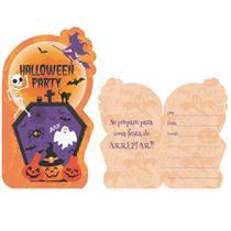 Convite de Aniversário Halloween 08 unidades Duster - Festabox
