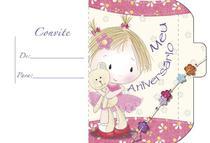 Convite Meu Aniversário 10un (10x6,5cm) CT-043 Litoarte -