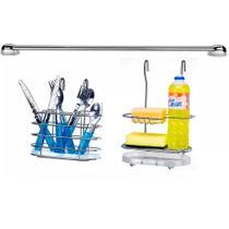 Cook Home 4503 Cozinha Suspensa Porta Detergente Suporte Talher Aço Cromado Arthi -