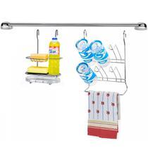Cook Home 4504 Cozinha Suspensa Porta Detergente Suporte Copos Aço Cromado Arthi -