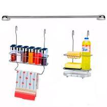 Cook Home 4512 Cozinha Suspensa Condimentos Pano Suporte Detergente Aço Cromado Arthi -