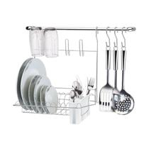 Cook Home Kit 8 Cozinha - Suporte Parede Louças - Arthi