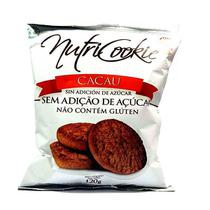 Cookies de Cacau Zero Açúcar e Glúten Nutripleno 120g -