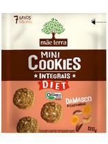 Cookies Orgânicos Diet Damasco e Castanhas Mãe Terra 120g -