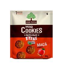 Cookies Orgânicos Diet Sabor Maçã Mãe Terra 120g -