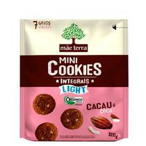 Cookies Orgânicos Light Sabor Cacau e Coco Mãe Terra 120g -
