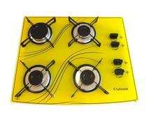 Cooktop 4 bocas amarelo lines safanelli -