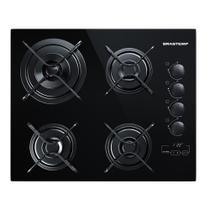 Cooktop 4 bocas Brastemp com duplachama e timer touch -