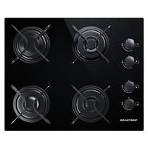 Cooktop 4 bocas Brastemp com grades piatina e acendimento automático -