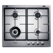 Cooktop 4 bocas Brastemp Gourmand Inox com duplachama e trempe com ferro fundido -