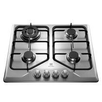 Cooktop 4 bocas cor Inox a Gás Electrolux (GT60X) -