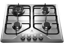 Cooktop 4 Bocas Electrolux GT60X Inox à Gás - Tripla-Chama Acendimento Superautomático