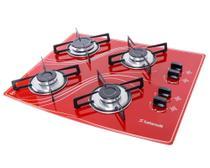 Cooktop 4 Bocas Safanelli Vermelho a Gás GLP Superautomático -