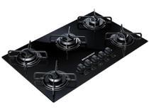 Cooktop 5 Bocas a Gás Natural e GLP Brastemp Preto - Acendimento Automático Ative! BDD85 AEUNA