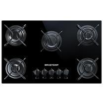Cooktop 5 bocas Brastemp com grades piatina e acendimento automático - BDD75AE -