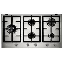 Cooktop 5 bocas Brastemp Gourmand Inox com duplachama e trempe com ferro fundido -