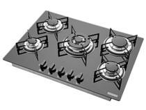Cooktop 5 Bocas Tramontina Glass 94708 à Gás - Tripla-Chama Acendimento Superautomático -