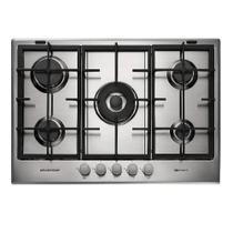 Cooktop a Gás Brastemp Gourmand 5 Queimadores Inox 75Cm 220V BDK75DRBNA -