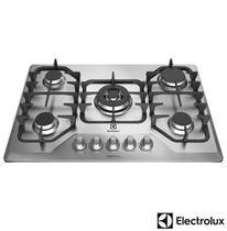Cooktop a Gás Electrolux com 05 Bocas, Superautomático Inox - GF75X -
