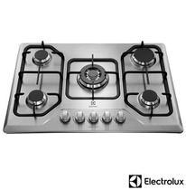 Cooktop a Gás Electrolux Inox com 05 Bocas, Painel Manual, Inox - GT75X -