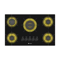 Cooktop arena 5 Q Preto/amarelo Gás Glp - Venax