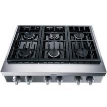 Cooktop de Embutir Semiprofissional Brastemp Gourmand 6 Bocas Inox com Chamas de Alta Potência e Simmer BDR90AR  127 volts -