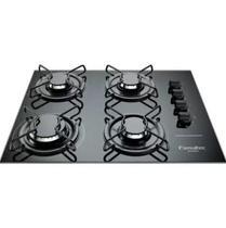 Cooktop gourmet 4084 4q super chama preto / vidro esmaltec -