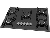 Cooktop Philco 5 Bocas Cook Chef 5 Bisote Preto Bivolt