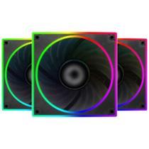 Cooler 120mm Controlável Bluecase S-LED Series - RGB Ring - BFR-22RGB -