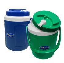 Cooler Caixa Térmica De 5 Litros Com Bico Dosador Suqueira Portátil Latas - Verde - Casíta