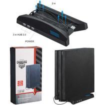 Cooler Compatível Com PlayStation 4 Pro Suporte Carregador Hub 3 USB Base - Techbrasil