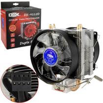 Cooler Fans Game Duplo Com 15 Leds Para Cpu Azul Dx-9115d Dex -