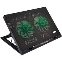 Cooler para Notebook 2 Coolers em LED Verde Multilaser AC267