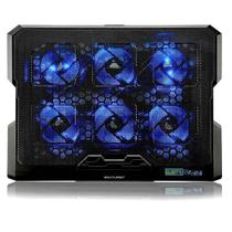 Cooler Para Notebook Com 6 Fans Led Azul Hexa Cooler - AC282 - Multilaser