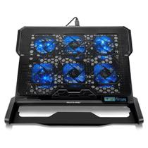 Cooler Para Notebook Com 6 Fans Led Azul Hexa Cooler Multilaser AC282