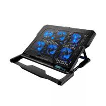 Cooler para Notebook Multilaser AC282, 6 Fans, com LED Azul - Preto