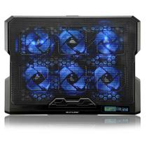 Cooler Para Notebook Multilaser Com 6 Fans LED Azul  - AC282