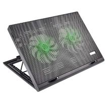 Cooler para Notebook Warrior Power Gamer Led Verde AC267 Multilaser