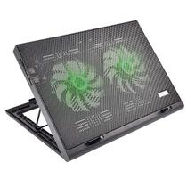 Cooler para Notebook Warrior Power Gamer LED Verde Luminoso AC267 Multilaser